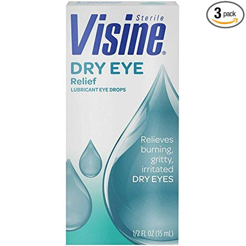 Visine Dry Eye Relief Eye Drops 0.50 oz (Pack of 3)